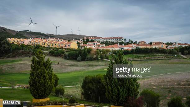 View of Golf links at Dolce CampoReal Lisboa Hotel during Gastronomic FAM Tour on November 27 2017 in Torres Vedras Portugal Gastronomic tours are...
