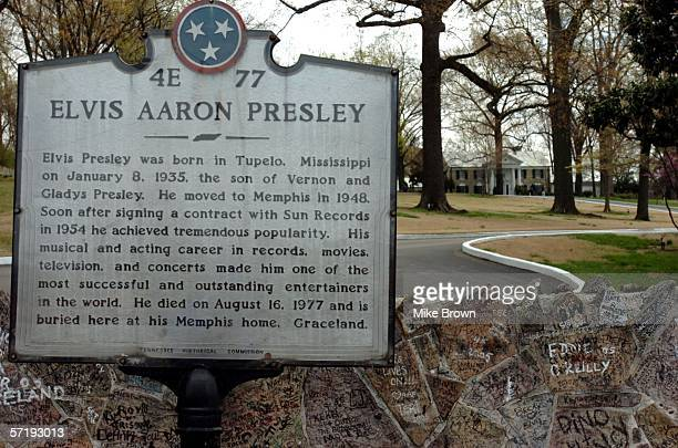 A view of Graceland is shown March 27 2006 in Memphis Tennessee Graceland the former home of the king of rock 'n' roll Elvis Presley was designated a...