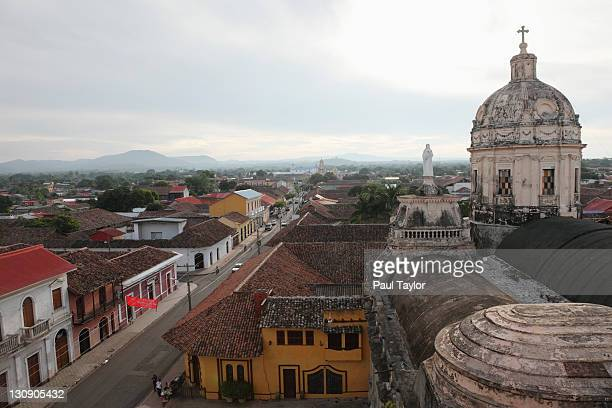 view of granada from la merced church - nicaragua fotografías e imágenes de stock