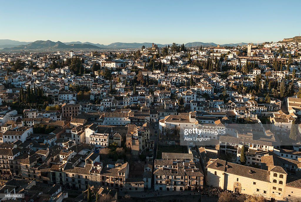View Of Granada Old Town From The Alhambra Stock Photo - Getty Images