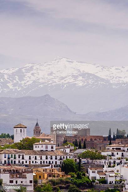 view of granada - granada spain stock pictures, royalty-free photos & images
