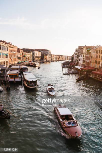 a view of grand canal in venice, italy, as seen from rialto bridge - as stock pictures, royalty-free photos & images