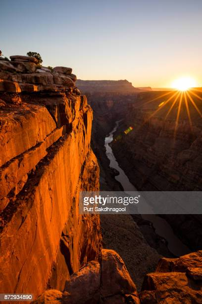 A View of Grand Canyon and Colorado River from Toroweap Overlook at Sunrise