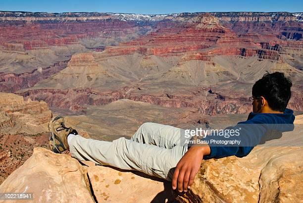 a view of grand canyon - flanco de valle fotografías e imágenes de stock