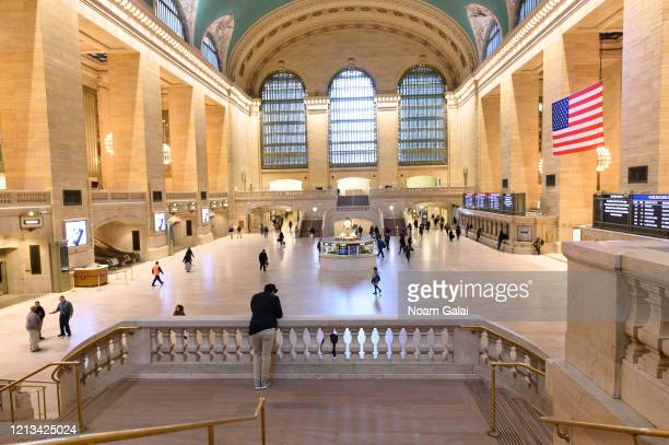 View of Grand Central Terminal during rush hour as the coronavirus continues to spread across the United States on March 18, 2020 in New York City....