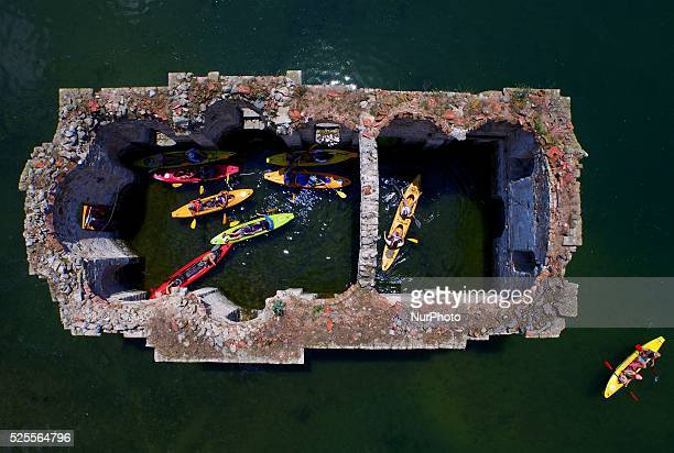A view of graveyard of village of Zapalnya at Zhrebchevo dam near the town of Tvardica east of the Bulgarian capital Sofia Sunday July 2015 The...