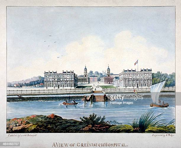 View of Greenwich Hospital from the Isle of Dogs London c1800