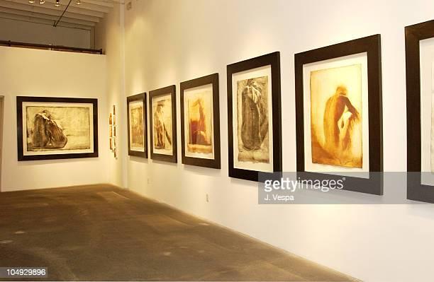 View of Greg Lauren's show during Greg Lauren Art Opening Los Angeles at Bergamot Station BGH Gallery in Santa Monica California United States