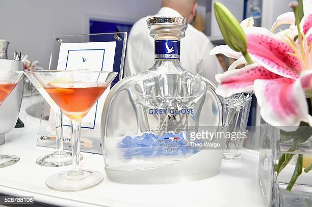 View of GREY GOOSE VX and signature martini at the French Riviera inspired GREY GOOSE Kentucky Oaks After Party at Passalinos on May 07, 2016 in...