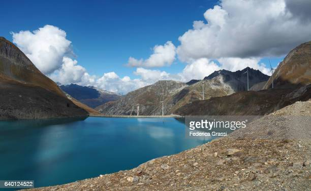 View of Griessee (Gries Lake), Swiss Lepontine Alps, Bedretto Valley