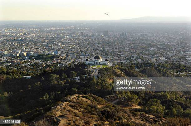 A view of Griffith Observatory in Griffith Park on December 04 2013 in Los Angeles California