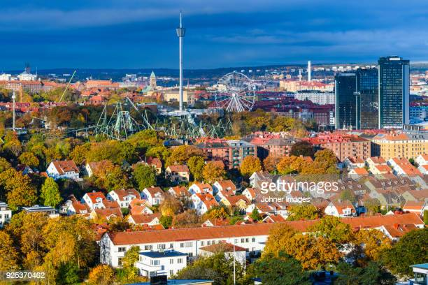 view of grona lund, stockholm, sweden - ヨーテボリ ストックフォトと画像