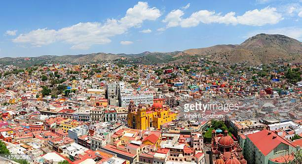 view of guanajuato city - guanajuato stock pictures, royalty-free photos & images