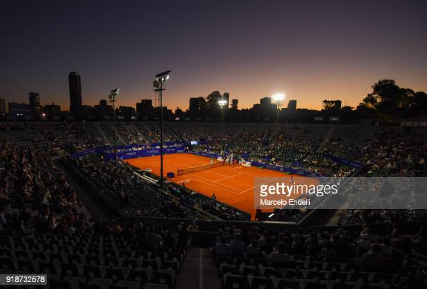 View of Guillermo Vilas Court during a second round match between Diego Schwartzman of Argentina and Thomaz Bellucci of Brazil as part of ATP...