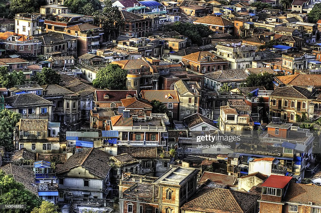 View of Gulangyu Island houses : Stock Photo