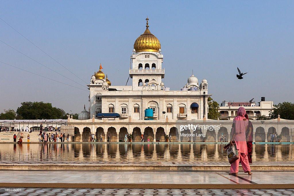 Gurudwara Bangla Sahib, Sikh temple in Delhi : News Photo