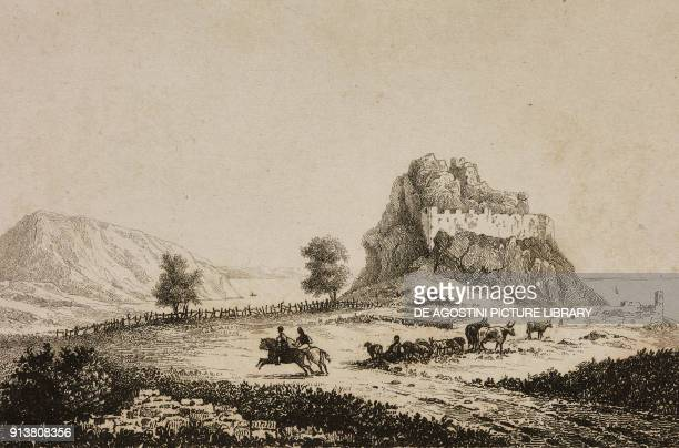 View of Gurzuf Crimea Russia engraving by Danvin and Skelton from Russie by Jean Marie Chopin La Fin de la Russie d'Europe La Crimee et les Provinces...