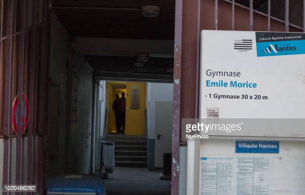 A view of gymnasium Emile Morice in Nantes France on August 20 2018 The Nantes City Hall opened the gymnasium of high school Emile Morice for...