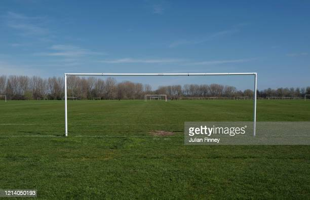 A view of Hackney Marshes without Sunday League football on March 22 2020 in London England Coronavirus pandemic has spread to at least 188 countries...