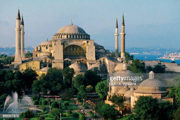 View of Hagia Sophia 537 AD Istanbul Turkey 6th century