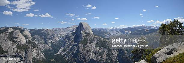 View Of Half Dome Against Blue Sky