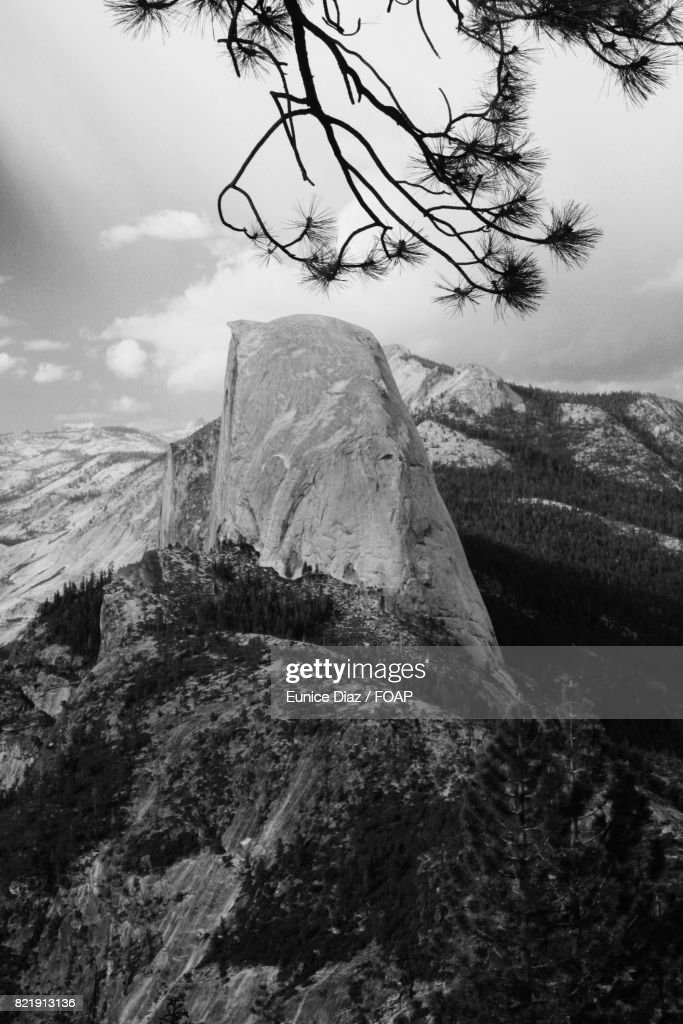 View of half dome in Yosemite Valley : Stock Photo