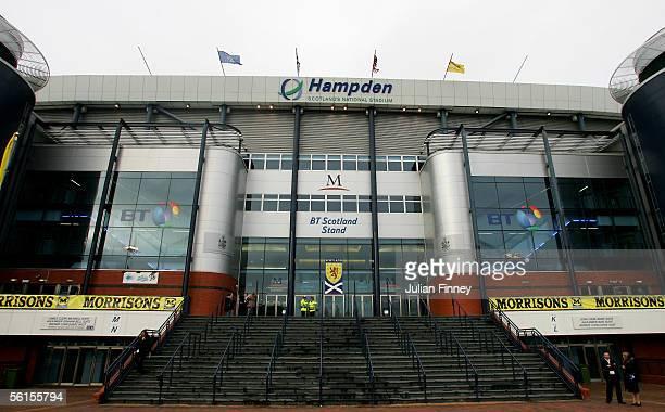A view of Hampden Park stadium before the international friendly match between Scotland and USA at Hampden Park on November 12 2005 in Glasgow...