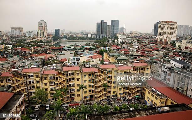 View of Hanoi on October 31 2016 in Hanoi Vietnam