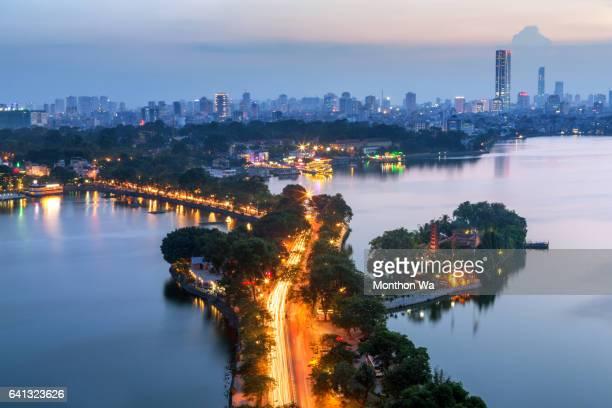 view of Hanoi skyline cityscape