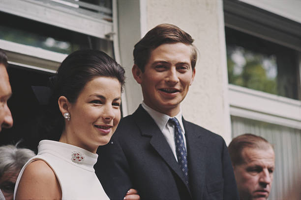 view-of-hansadam-ii-prince-of-liechtenstein-and-his-wife-former-picture-id565106239