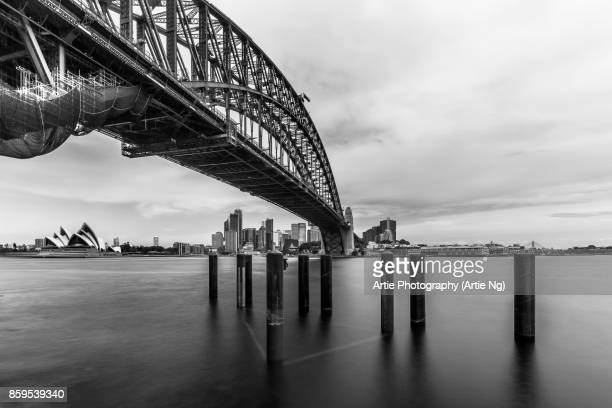 View of Harbour Bridge & Opera House, Sydney, New South Wales, Australia