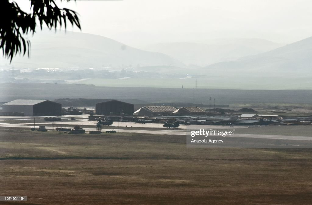 US troops to be expected to withdraw from Syria using Harir Airfield : News Photo