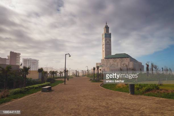 view of Hassan II mosque from the park - Casablanca - Morocco