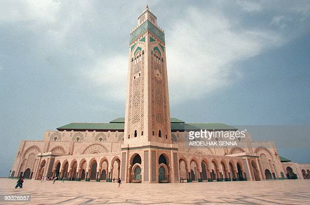 View of Hassan II mosque shot10 July 1998 in Casablanca vue de la Mosquée Hassan II de Casablanca prise le 10 juillet 1998