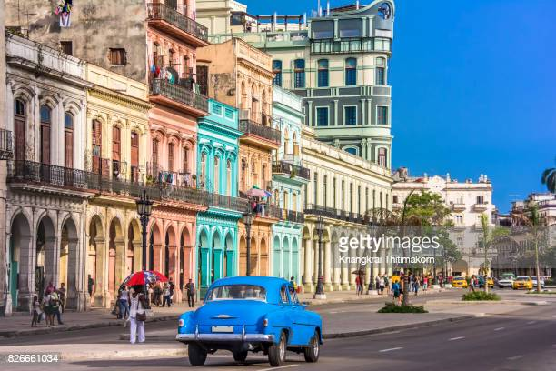view of havana city, cuba. - cuba photos et images de collection