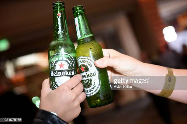 View of Heineken at the 2018 British Academy Britannia Awards presented by Jaguar Land Rover and American Airlines at The Beverly Hilton Hotel on...