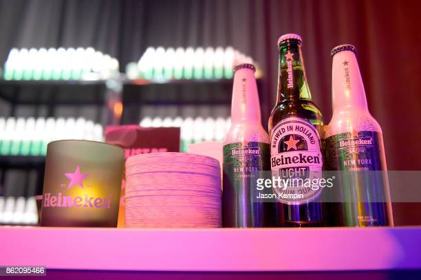 A view of Heineken beer at VH1 Save The Music 20th Anniversary Gala at SIR Stage37 on October 16 2017 in New York City