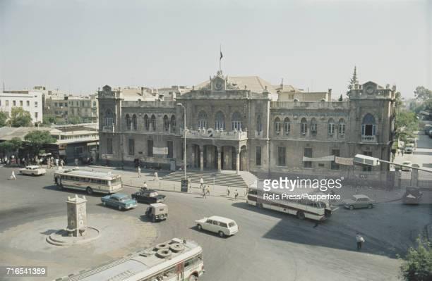 1971 view of Hejaz Railway Station located near Marjeh Square in Damascus Syria The Hejaz railway ran from Damascus to Medina in Saudi Arabia