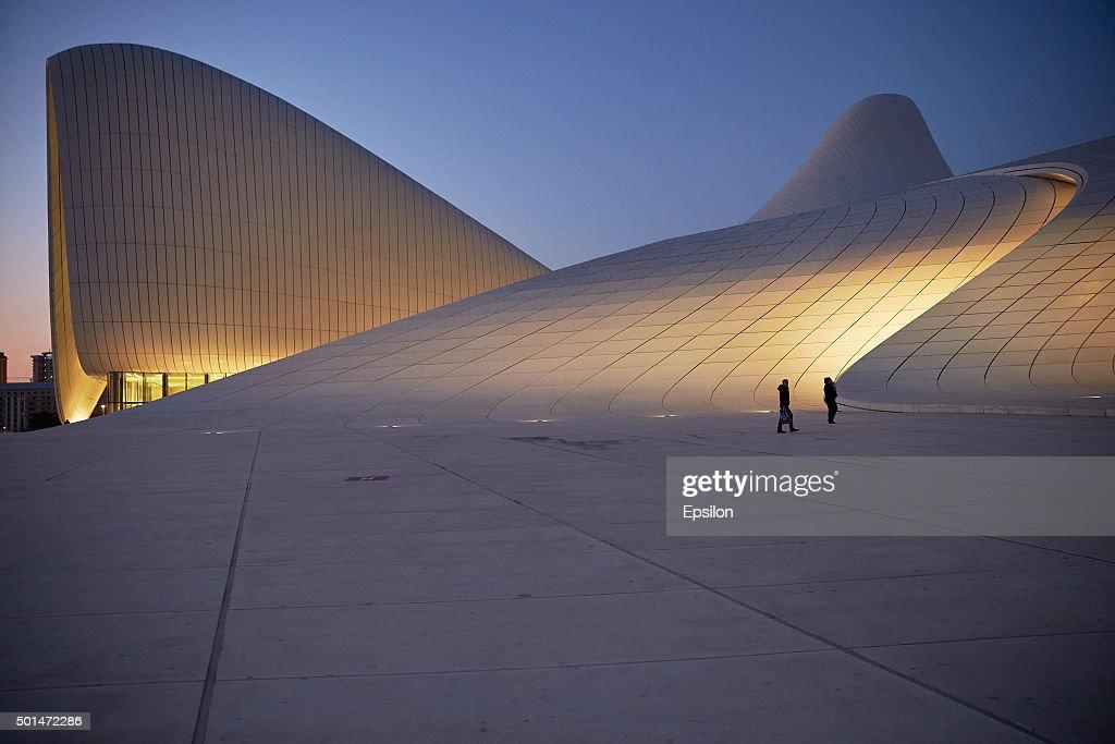 View Of Heydar Aliyev Center In Baku : News Photo