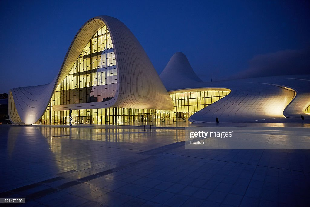 View Of Heydar Aliyev Center In Baku : News Photo