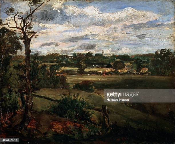 'View of Highgate from Hampstead Heath', early 19th century. Constable, John . Found in the collection of the State A. Pushkin Museum of Fine Arts,...