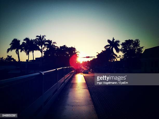 View Of Highway During Sunset