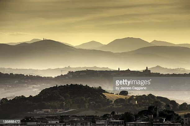 view of hills - jacopo caggiano stock pictures, royalty-free photos & images