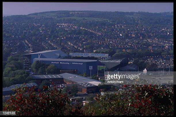 A view of Hillsborugh stadium in Sheffield Sheffield is one of the cities chosen to stage the European soccer Championships which will be held in...