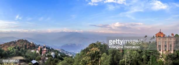 View of Himalayas range from Nagarkot village, Kathmandu, Nepal.