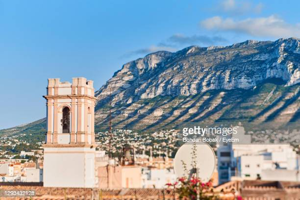 view of historic building against sky - denia stock pictures, royalty-free photos & images