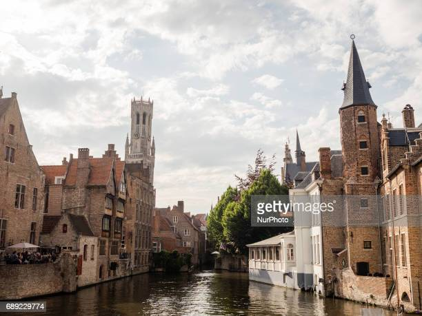 A view of historical architectures in Bruges on 27th May 2017 During one of the warmest days of the year Bruges was the destination chosen by...