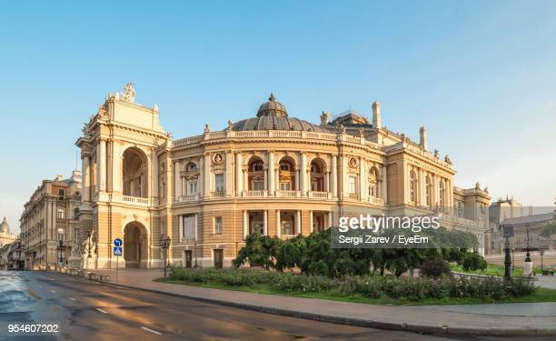 view of historical building against clear sky - odessa ukraine stock photos and pictures