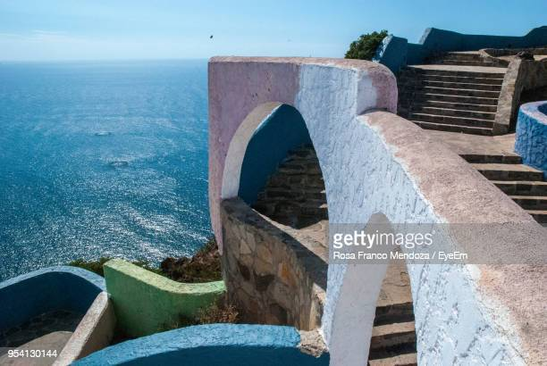 view of historical building against sea - tijuana stock pictures, royalty-free photos & images