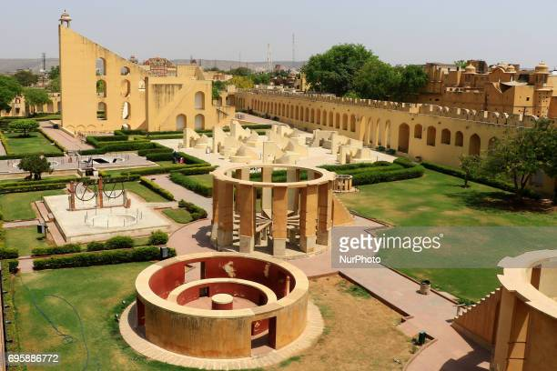 A view of historical Jantar Mantar monument in Jaipur Rajasthan India 14 June2017 Jantar Mantra monument is a collection of nineteen architectural...